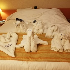 Towel Decoration on my room