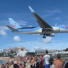 Philipsburg, St. Maarten - Plane landing - St-Martin
