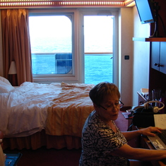 "My ""Honey"" working hard on our cruise!!"