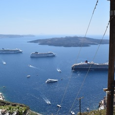 View of anchor port from Santorini