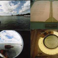 Views of the Arizona Memorial. The fish-eye 180 degree lens effect is unique.