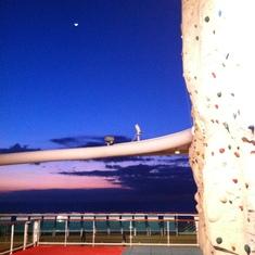 Radiance of the Seas Climbing Wall
