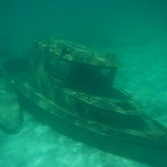 Castaway Cay (Disney Private Island) - Sunken Ship in Castaway Lagoon