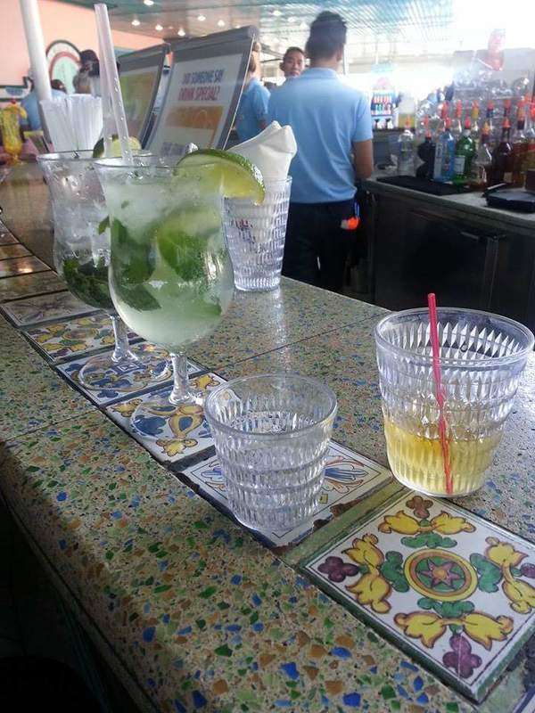 Headed directly to Redfrog Bar after boarding the Victory...Mojitos - Carnival Victory