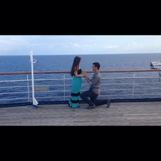 Cozumel, Mexico - He purposed on the top deck!