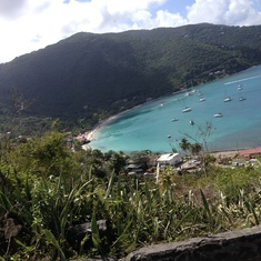Tortola From the Top Of The Mountain