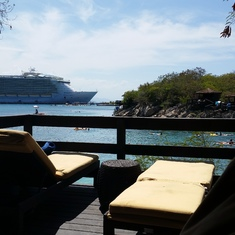 Labadee (Cruiseline Private Island) - Beach Cabana OVERLOOKING the water at Nellie's Beach