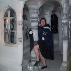 Ice chapel at Magic Ice ice bar.