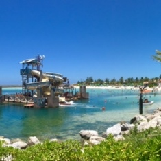 Waterslide on Castaway Cay