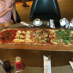 Metre of Pizza at Eataly Pizzeria