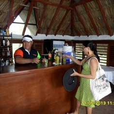 Belize City, Belize - having a drink