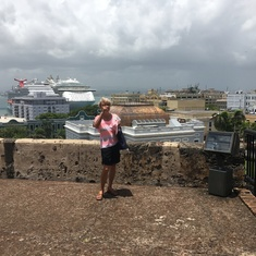 San Juan, Marian with  ship in background.