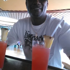 King's Wharf, Bermuda - sipping coolaid