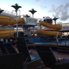 Cozumel, Mexico - Poolside at sun set