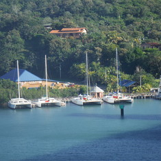 Coming in to port in Roatan