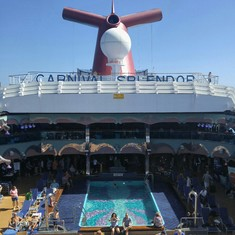 Splendido Lido Pool on Carnival Splendor