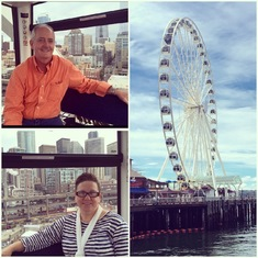 Seattle, Washington - The Great Wheel in Seattle
