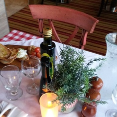 Table at Cucina del Capitano on Carnival Sunshine