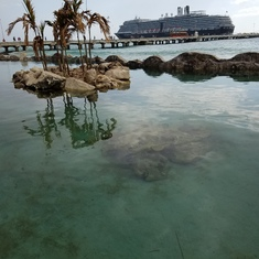 Ship in Costa Maya Port