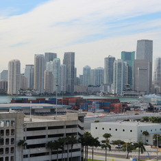 View from Port of Miami