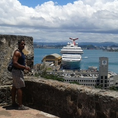 Our ship from the Spanish Fort in San Juan, Puerto Rico.