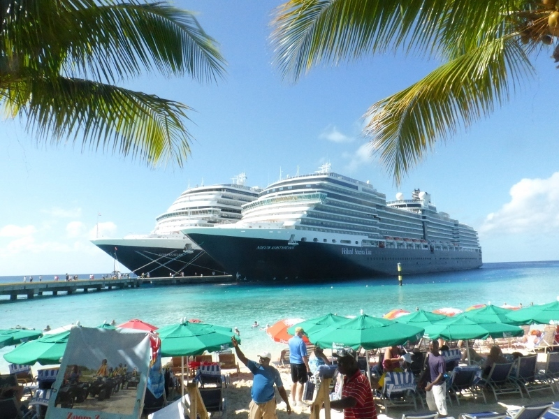 HAL ships in port - Grand Turk - Koningsdam