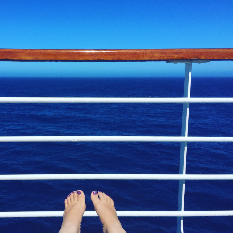 relaxing on the deck  - Carnival Inspiration