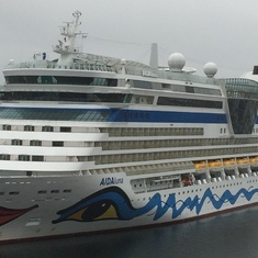 Stavanger, Norway - An Aida ship in port the same time.