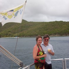 Champagne catamaran ride to St. John.