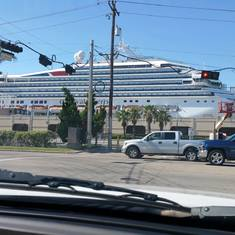 Galveston, Texas - Carnival Liberty in Galveston Port