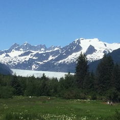 View of the Mendenhall Glacier in Juneau