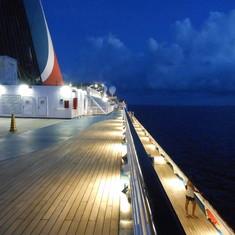 Love dusk on the ship