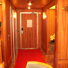 Entry way in the Penthouse Suite, aka Pinnacle Suite, Cabin 7001