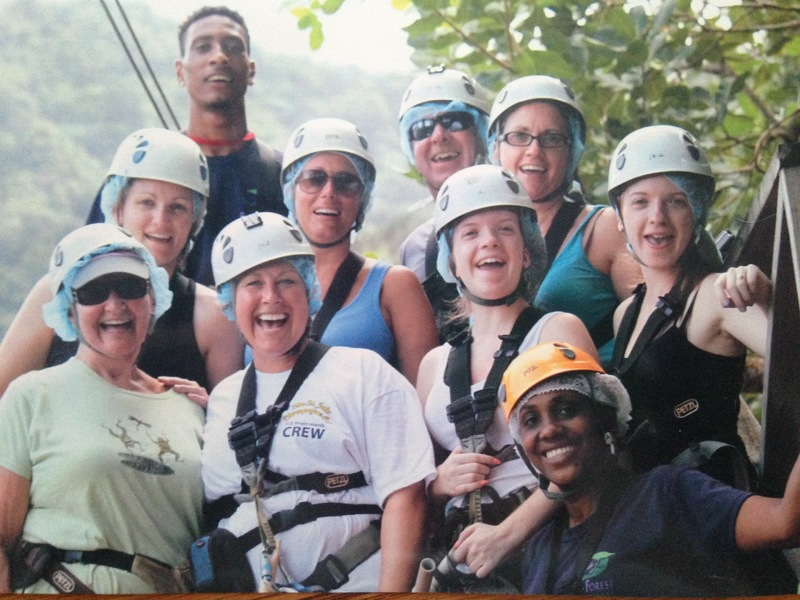 Castries, St. Lucia - our awesome group of Zip-liners!