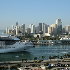 MSC Divina arriving in PortMiami