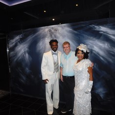 Two of the cast members from The Cotton Club show