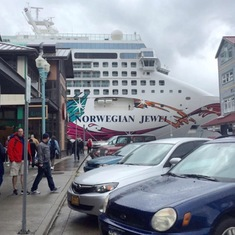 Port of Skagway - Nothing like front row parking!