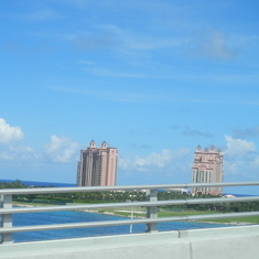 Heading over to Paradise Island