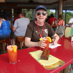 Red Frog Rum Bar on ship