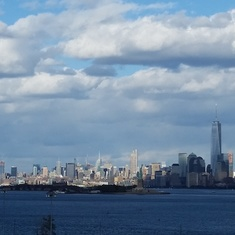 View of Manhattan from Bayonne Pier