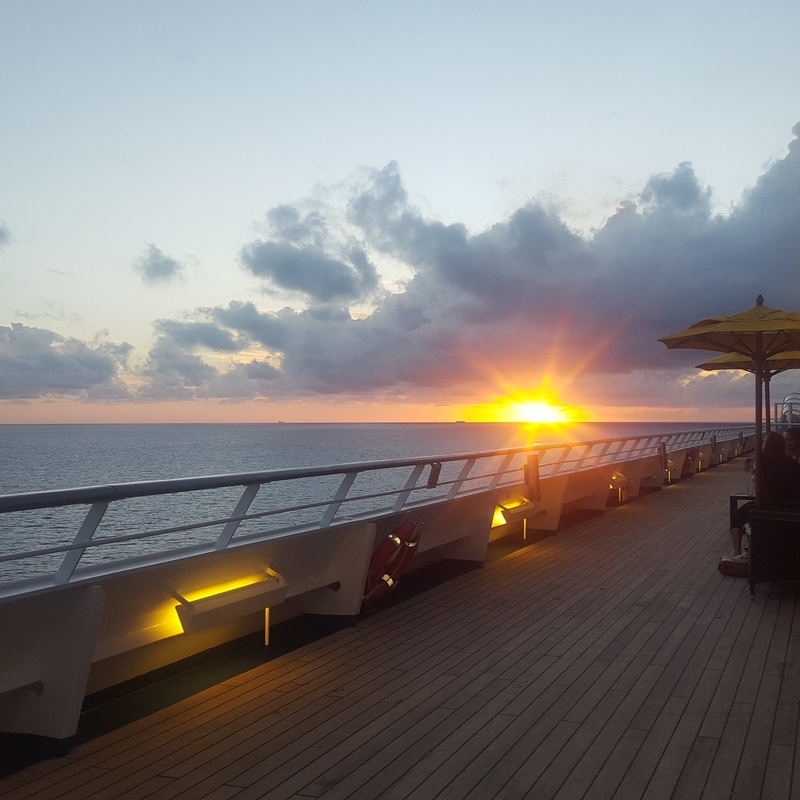 sunset in the middle of the ocean - Carnival Liberty