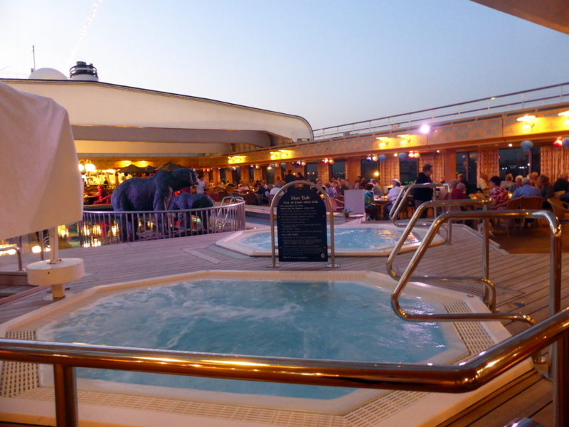 Whirlpools on Lido Deck 8 - Amsterdam