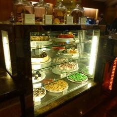 Celebrity Constellation - Cake selection in Cafe al Bacio