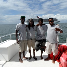 Belize City, Belize - Snorkle crew