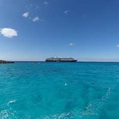 achored off haft moon cay