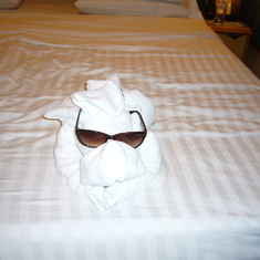 King's Wharf, Bermuda - Towel Animal!