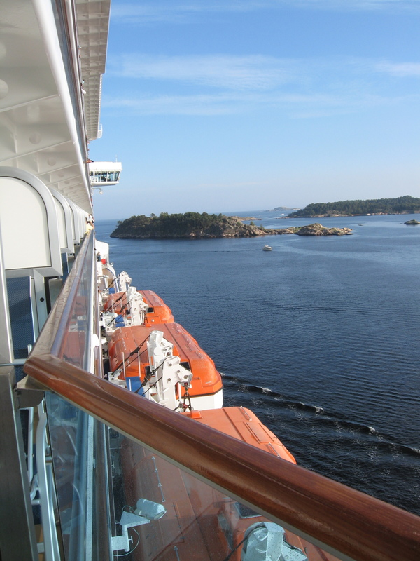 Leaving Kristinasand, Norway on Royal Princess - Royal Princess