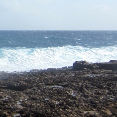 Oranjestad, Aruba - Rough Surf at Gold Mill Ruins