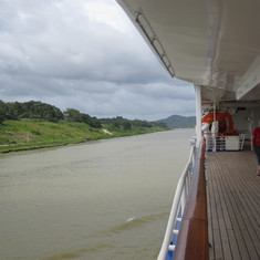Headed to Lake Gatun view from deck 7.