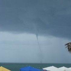 water spout in Freeport